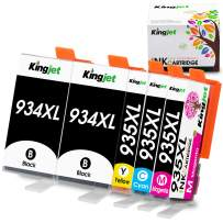 Kingjet 934XL 935XL Ink Cartridge Replacement for 934 935, 934XL 935XL Work for Officejet 6220 6812 6815 6820 6822 6825; Officejet Pro 6230 6830 6835 Printers, 5 Pack
