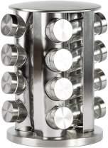 Spice Rack, 16 - Jar Revolving Countertop Spice Tower, Carousel Seasoning Storage Organization for Home & Kitchen