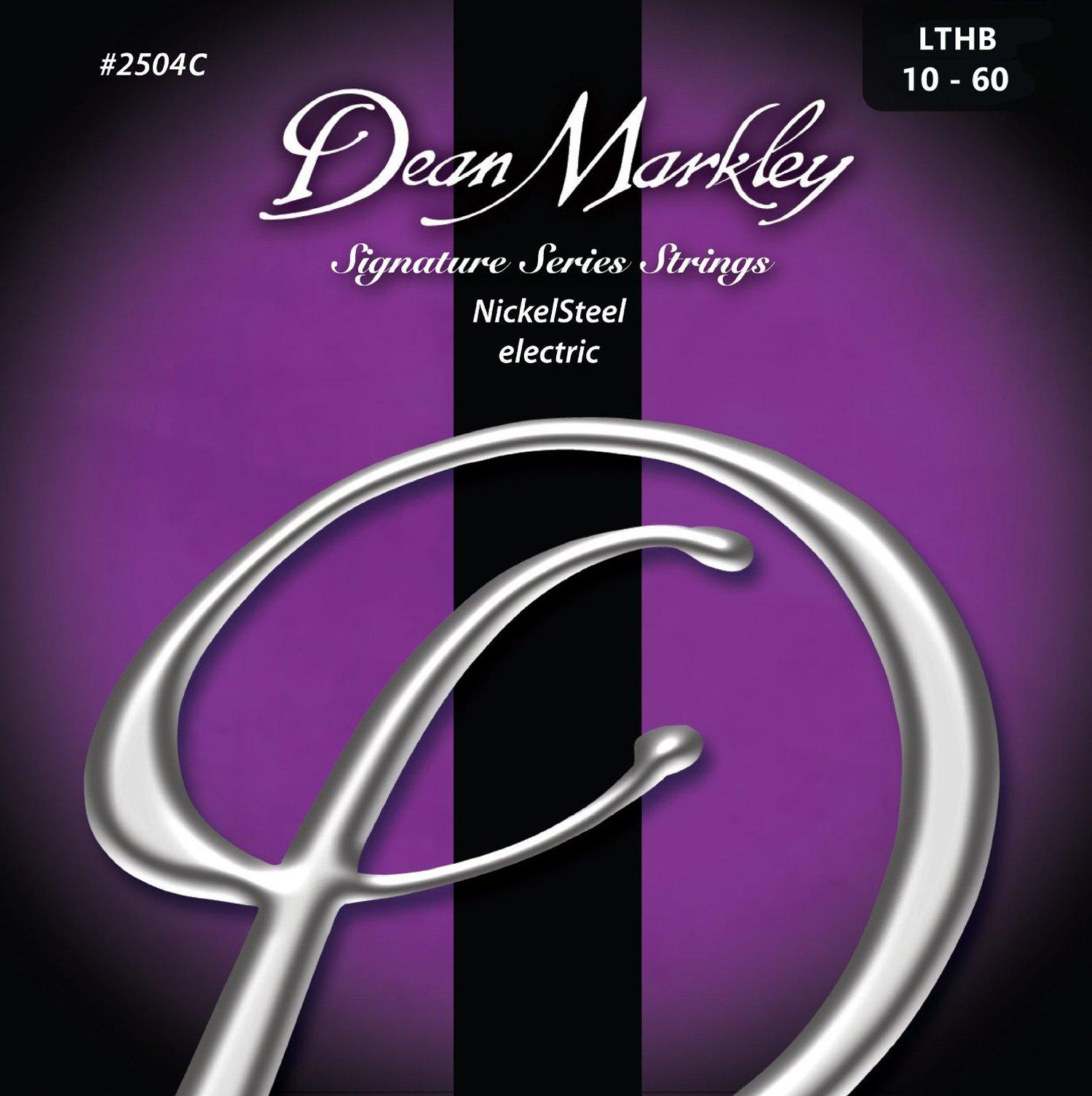 Dean Markley 7-String NickelSteel Signature Series Electric Guitar Strings, 10-60, 2504C, Light Top/Heavy Bottom