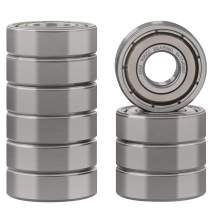 XiKe 10 Pcs 606ZZ Double Metal Seal Bearings 6x17x6mm, Pre-Lubricated and Stable Performance and Cost Effective, Deep Groove Ball Bearings.