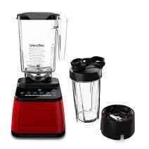 Blendtec DD28PA04A-A1AP1D8 Designer Series Countertop Blender, WildSide+ 90 oz, Travel Bottle 34 oz, Red Go Jar