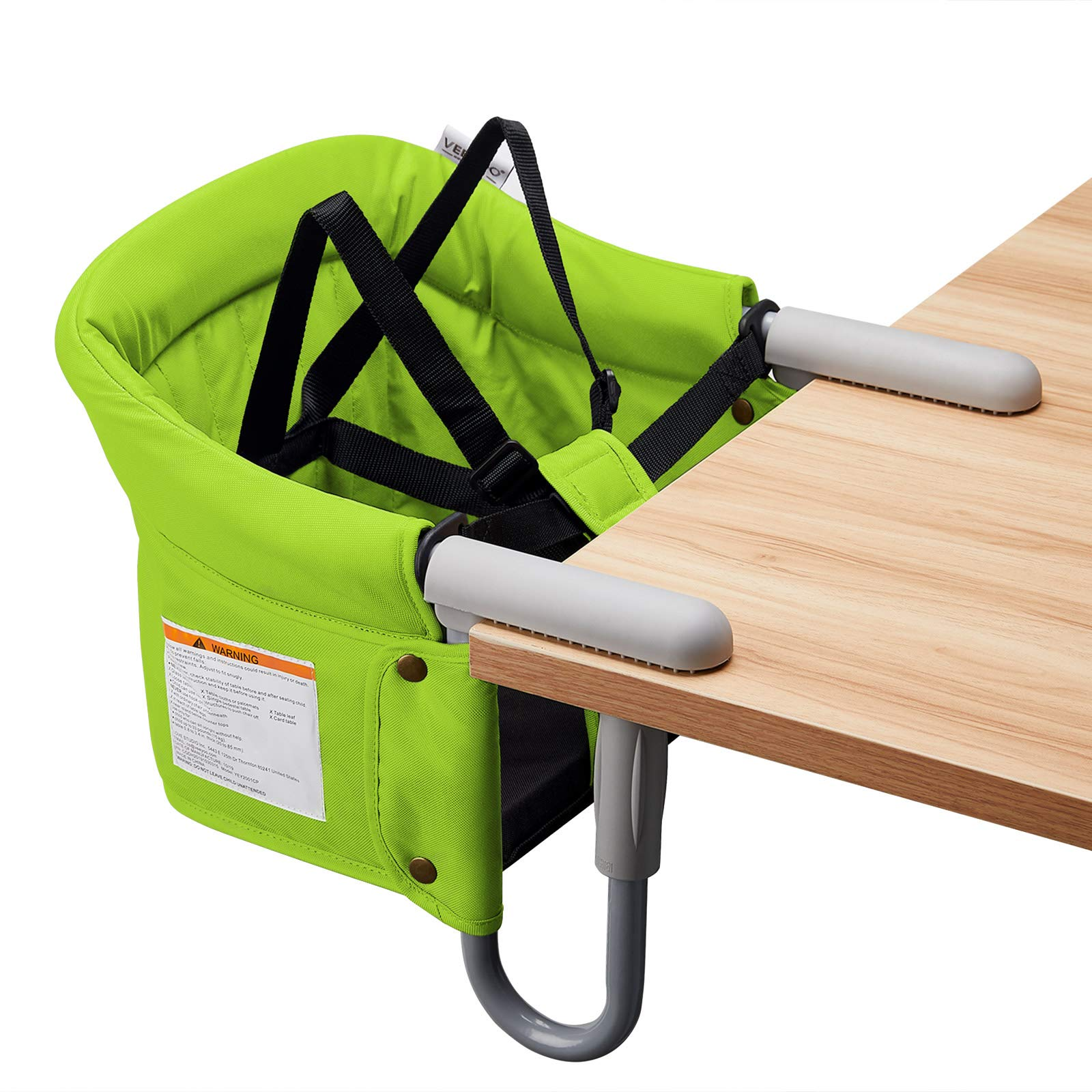 VEEYOO Clip On High Chairs - Fast Table Chair for Babies and Toddlers, Portable Baby Seat for Table (Green)