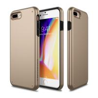 iPhone 8 Plus Case, Patchworks [Chroma Series] Hybrid Soft Inner TPU Hard Matte Finish PC Back Cover Military Grade Drop Tested Dual Layer Case for iPhone 8 Plus/iPhone 7 Plus - Gold