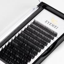 Eyelash Extensions 0.15mm C Curl 8mm Individual Eyelashes Extension Natural 3D Faux Mink False Lashes Singles Length Supplies Perfect Salon Use by EYEMEI (0.15-C-8mm)