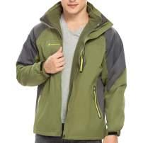 ALPINE PRO Men 3 in 1 Ski Jacket, Waterproof Winter Interchange Coat with Warm Inner Fleece and Windproof Hood
