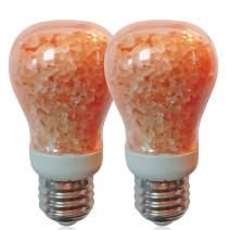 Elvissmart ES-1651B-2PK Natural Salt Light Bulb 7W Dimmable, 40 Watt Equivalent, 2 Pack