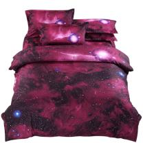 YOU SA Red Outer Space Bedding Sky Cosmos Night Bedding Sets Twin (07)