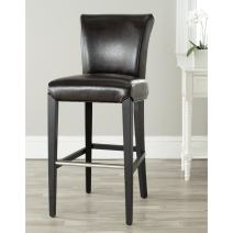 Safavieh Mercer Collection Seth Brown Leather 25.9-inch Bar Stool