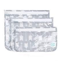 Bumkins TSA Approved Toiletry Bag, Travel Bag, PVC-Free, Vinyl-Free, Clear Front, Set of 3 – Arrows
