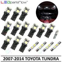 LEDpartsNow Interior LED Lights Replacement for 2007-2014 Toyota Tundra Accessories Package Kit (17 Bulbs), WHITE