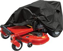 Raider 02-7730 SX-Series Large Weather and UV-Resistant Zero-Turn Lawn Tractor Storage Cover,Black