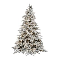 Vickerman Flocked Utica with Dura-Lit 850 Clear Lights, 7.5-Feet by 65-Inch