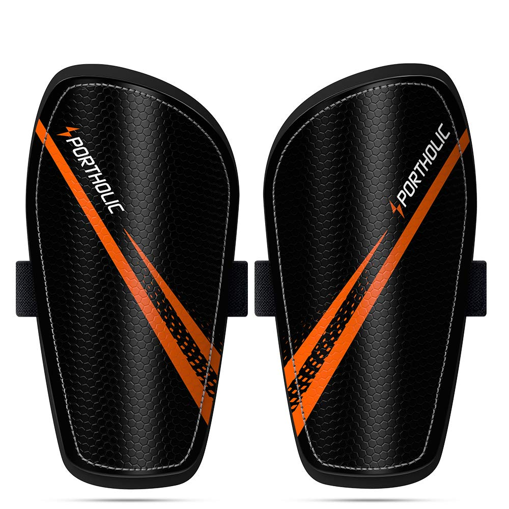 PORTHOLIC Soccer Shin Guards for Youth, 1 Pair 2-5 Year Old Kids Soccer Shin Protective Pads Board Comfortable Lightweight for Boys Girls Children Toddler