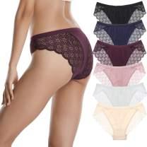 LEVAO Women Lace Underwear Lingerie Sexy Bikini Seamless Panties Pack of 6