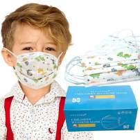 Medical Grade Face Masks - Flyaudio ASTM Level 1 Masks for Adults & Kids Protection, 50 Pcs 3 ply Procedure Disposable Mask