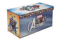 """Fresh Home Elements Licensed Toy Box Chest, 30"""" Avengers Soft Storage"""