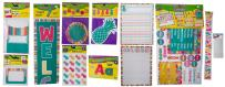 Pineapple Tropical Punch Calendar Bulletin board set, welcome banner, library pockets, name tags, accents, pineapple accents, stickers, ready letters, border,learning charts, mounts