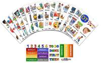 SchKIDules 111 Pc Special Needs Home Collection for Visual Schedules, Kids Calendars and Behavior Charts: 90 Activity Magnets Plus 21 Headings Magnets
