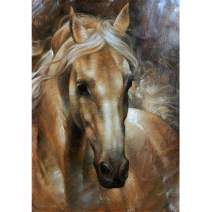 DIY 5D Diamond Painting Square Full Drill Diamond Art by Numbers Kit Diamonds Embroidery for Wall Decor Horse 11.8X15.7inch