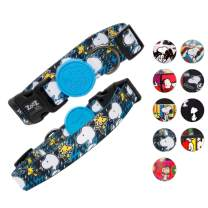 Snoopy Cute Dog Collar -Snoopy Adjustable Dog Collar & Water Resistant Dog Collars for Small Dogs & Large - Extra Safety Strong Buckle Durable Fabric - Silky Comfortable Touch - 10 Unique Designs