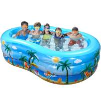 """iBaseToy Inflatable Swimming Pool, 95"""" x 59"""" x 23"""" Giant Family Inflatable Pool, Inflatable Kiddie Pool, Family Lounge Pool for Kids, Adults, Babies, Toddlers, Outdoor, Garden, Backyard, for Ages 3+"""