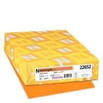 "Astrobrights Color Paper, 8.5"" x 14"", 24 lb/89 GSM, Cosmic Orange, 500 Sheets (22652)"
