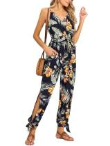 FENSACE Jumpsuits for Women Casual,Travel Clothes Women Summer Travel Outfits Romper Stretchy