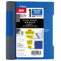 "Five Star Advance Small Spiral Notebook, 1 Subject, College Ruled Paper, 100 Sheets, 7"" x 4-3/8"", Blue (73151)"