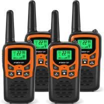 ANSIOVON Walkie Talkies for Kids Long Range 2-Way Radios Up to 5 Miles Range in Open Field 22 Channel FRS/GMRS Kids Walkie Talkies UHF Handheld Walky Talky (4 Pack)