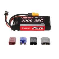 Venom 35C 2S 2000mAh 7.4V LiPo Battery with Universal Plug (EC3/Deans/Traxxas/Tamiya)