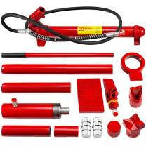Mophorn 20 Ton Porta Power Kit 2M Hydraulic Car Jack Ram 13.78 inch Lifting Height Autobody Frame Repair Power Tools for Loadhandler Truck Bed Unloader Farm and Hydraulic Equipment Construction