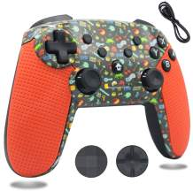BRHE Switch Pro Controller Wireless Bluetooth Remote Dual Shock Gamepad Compatible for Nintendo Switch/Switch Lite / PS3 / Windows PC/Android(Orange)