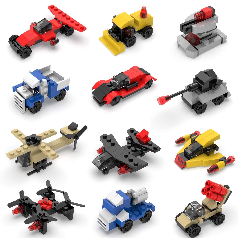 FUN LITTLE TOYS Mini Building Blocks Sets for Party Favors, Kids Prizes, Goodie Bags, 12 Boxes