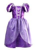 Little Girls Princess Rapunzel Dress Costume