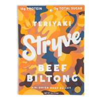 Stryve Biltong, Beef Jerky Without The Junky. 16g Protein, Sugar Free, No Carbs, No Nitrates, No MSG, No Preservatives. Keto and Paleo Friendly. Teriyaki, 4oz