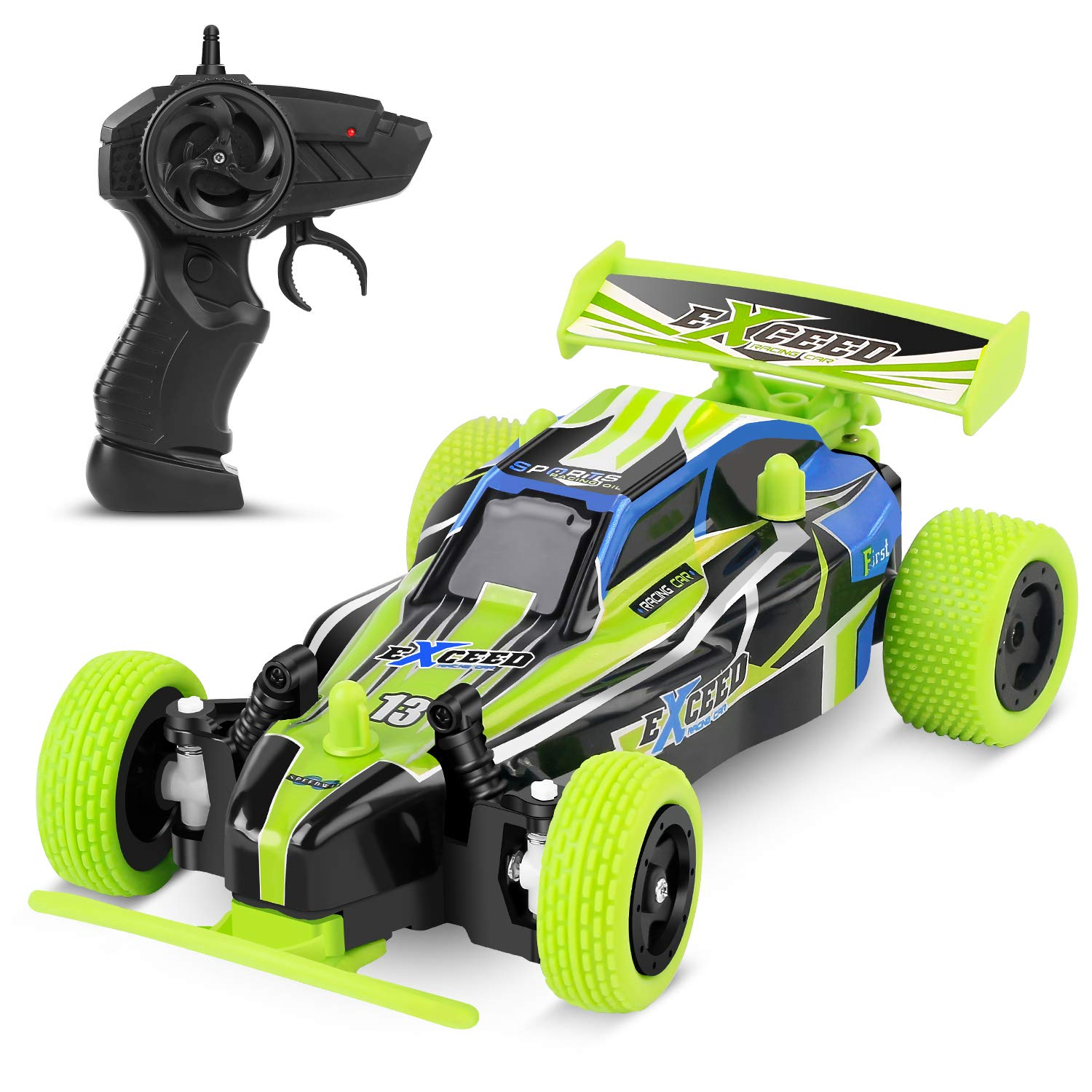 MISSLFJY Remote Control Car, High Speed Racing Car Electronic Hobby Car Buggy Vehicle 2.4 GHZ 1:22 Scale RC Cars Toys for Kids Toddler Boys Girls with Rechargeable Battery for Car, Two AA Batteries