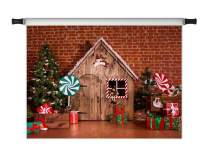 Kate 7x5ft Christmas Photography Backdrops Xmas Party Decoration Wooden House Christmas Tree Microfiber Photo Studio Props