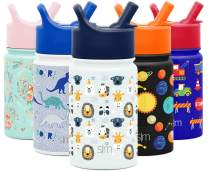 Simple Modern 10oz Summit Kids Water Bottle Thermos with Straw Lid - Dishwasher Safe Vacuum Insulated Double Wall Tumbler Travel Cup 18/8 Stainless Steel -Wild Zoo