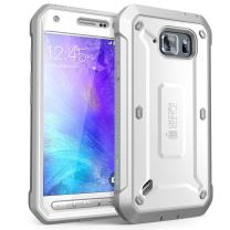 Galaxy S6 Active Case,SUPCASE Full-Body Rugged Holster Case with Screen Protector for Galaxy S6 Active 2015 Release Will Not Fit Galaxy S6 Unicorn Beetle PRO Series - Retail Package (White/Gray)