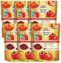 ORGANIC Sundried Tomatoes - Sunny Fruit - (6 Bags) - (5) 1.06oz Portion Packs per Bag | Purely Tomatoes - NO Added Sugars, Sulfurs or Preservatives | NON-GMO, VEGAN & HALAL