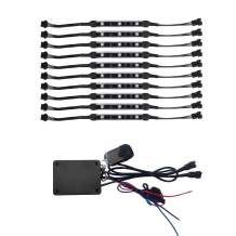 Million Color 10 PCS Flex Strip Motorcycle Cellphone Controlled LED Light Kits with Music Sync