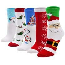 Christmas Sock Women's Holiday Socks Cotton Crew Xmas Socks for Girls Novelty Christmas Gifts