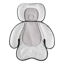 vocheer Baby Stroller Cushion, 3 in 1 Baby Car Seat Pad Infant Head Support Pillow Neck Support Cushion for Newborn and Toddler 0-12 Month, Knitted Fabric