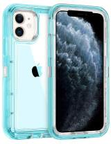 Coolden Hybrid Clear Phone Case for iPhone 11 Pro 5.8 Inches, Heavy Duty Protective Dual Layer Shockproof Case with Hard PC Bumper Soft TPU Back for 2019 Release iPhone 11 Pro, Transparent Blue