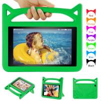 F i r e Tablet 10 Case for Kids - Auorld Light Weight Shock Proof Handle Friendly Stand Kid-Proof Case for All New F i r e HD 10 Tablet (5th&7th Generation) - Green