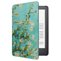 CoBak Case for All New Kindle 10th Generation 2019 Released - Will Not Fit Kindle Paperwhite or Kindle Oasis, Premium PU Leather Smart Cover with Auto Sleep and Wake,Blossom