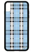 Wildflower Limited Edition Cases for iPhone Xs Max (Blue Plaid)
