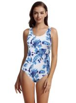 zeraca Women's Sporty One Piece Swimsuit Bathing Suits M10 Greece Vibes