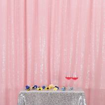 PartyDelight Sequin Backdrop Wedding Curtain Special Events, Party, Pink, 6FTx7FT