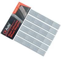 CKAuto 1/2oz, 0.5oz, Ultra Slim Low Profile, Grey, Adhesive Stick On Wheel Weights, 12 oz/ 4 lb/Box, OEM Quality, (24pcs)